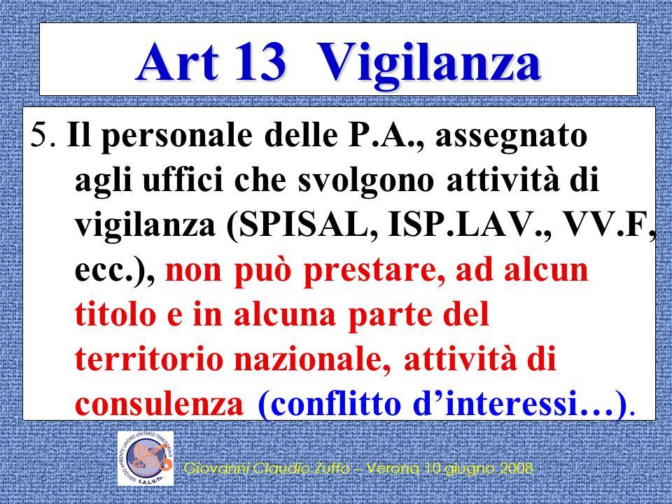 Art 13 Vigilanza