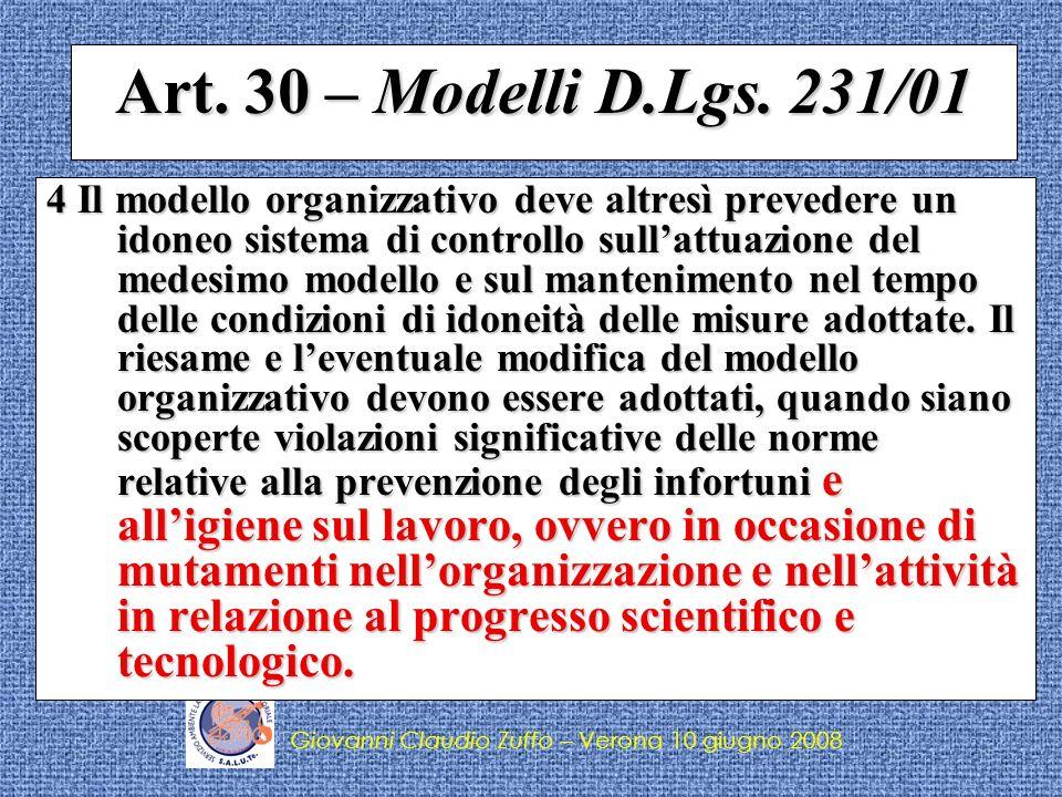 Art. 30 – Modelli D.Lgs. 231/01