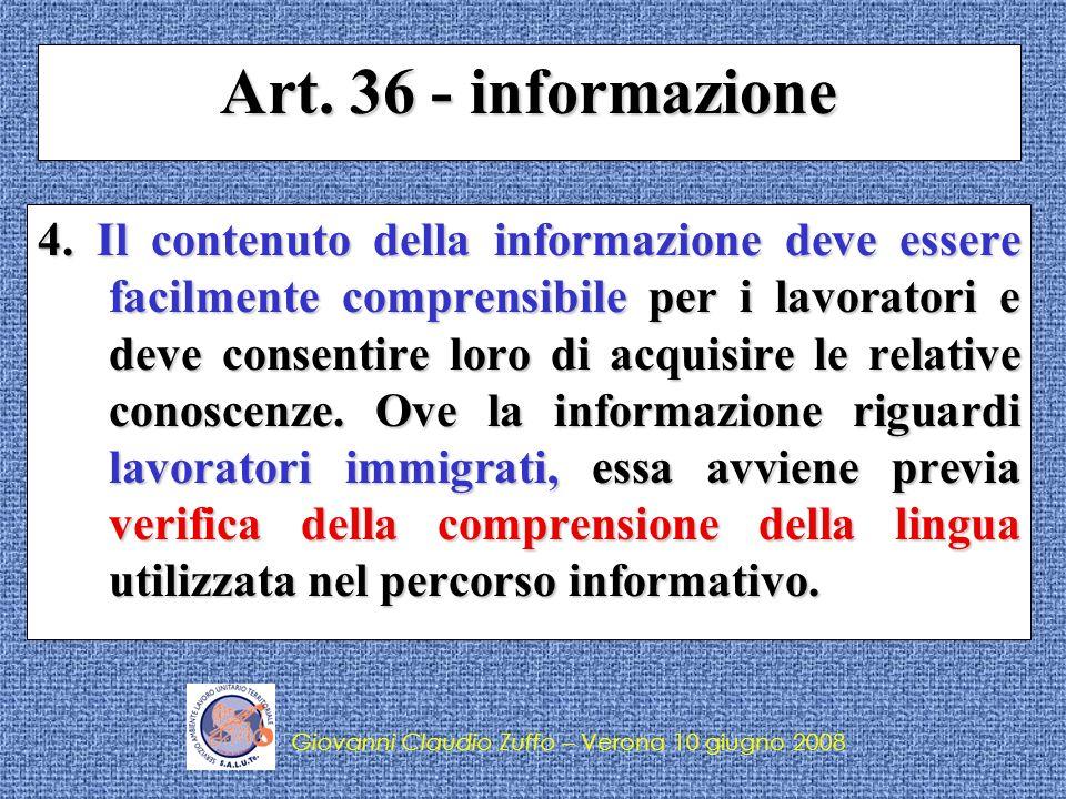 Art. 36 - informazione