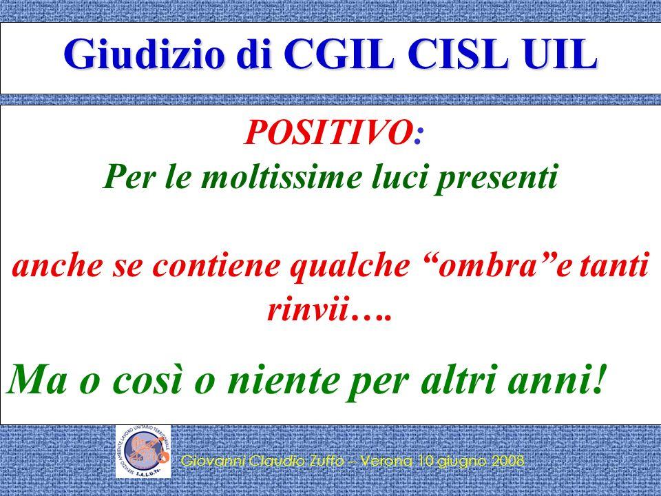 Giudizio di CGIL CISL UIL