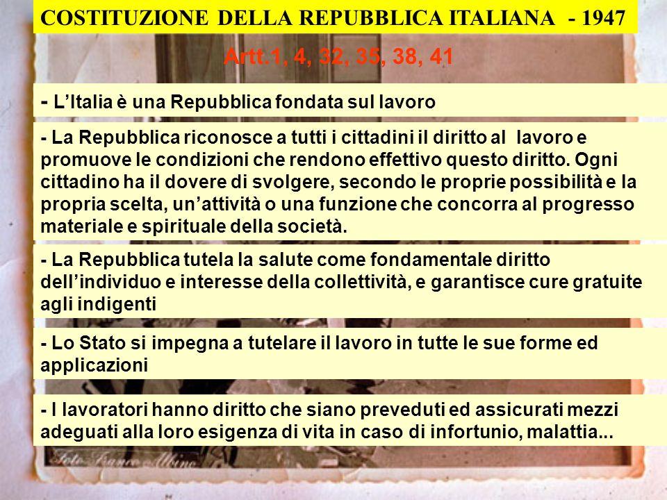 COSTITUZIONE DELLA REPUBBLICA ITALIANA - 1947