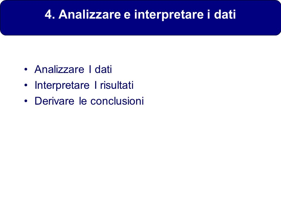 4. Analizzare e interpretare i dati