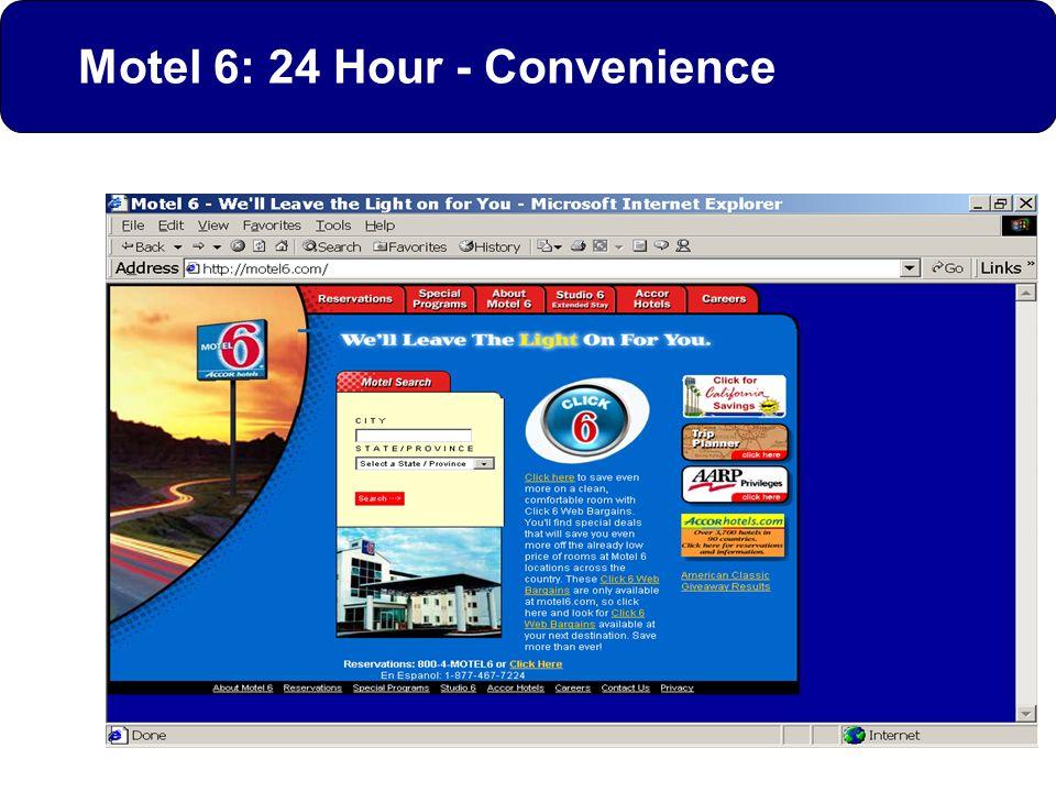 Motel 6: 24 Hour - Convenience