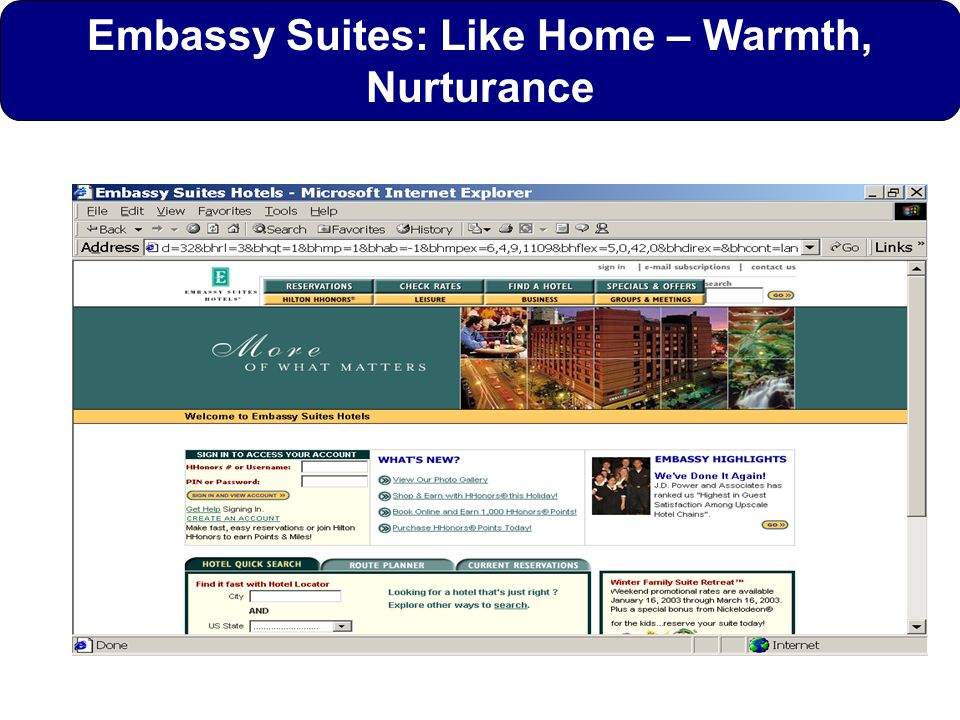 Embassy Suites: Like Home – Warmth, Nurturance