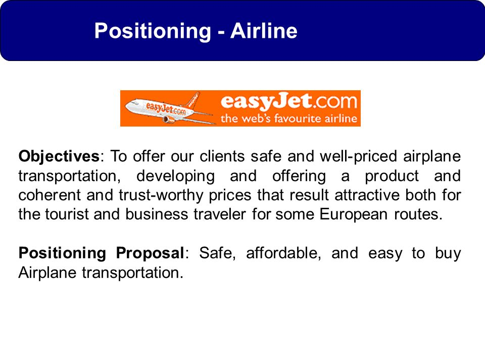 Positioning - Airline