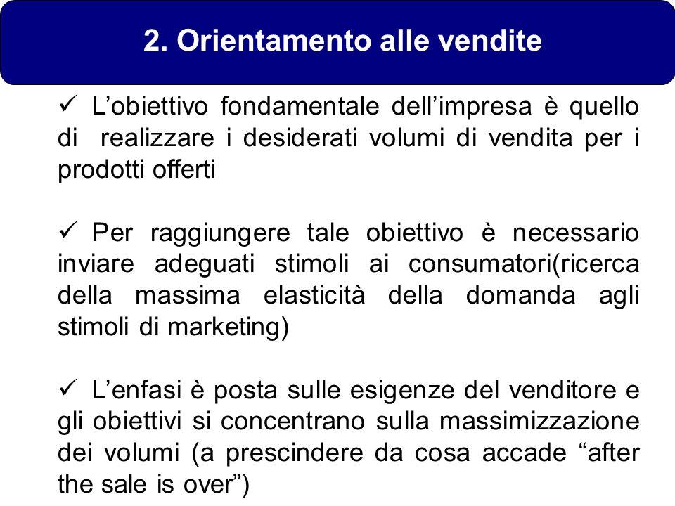 2. Orientamento alle vendite