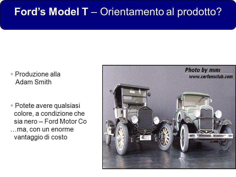 Ford's Model T – Orientamento al prodotto