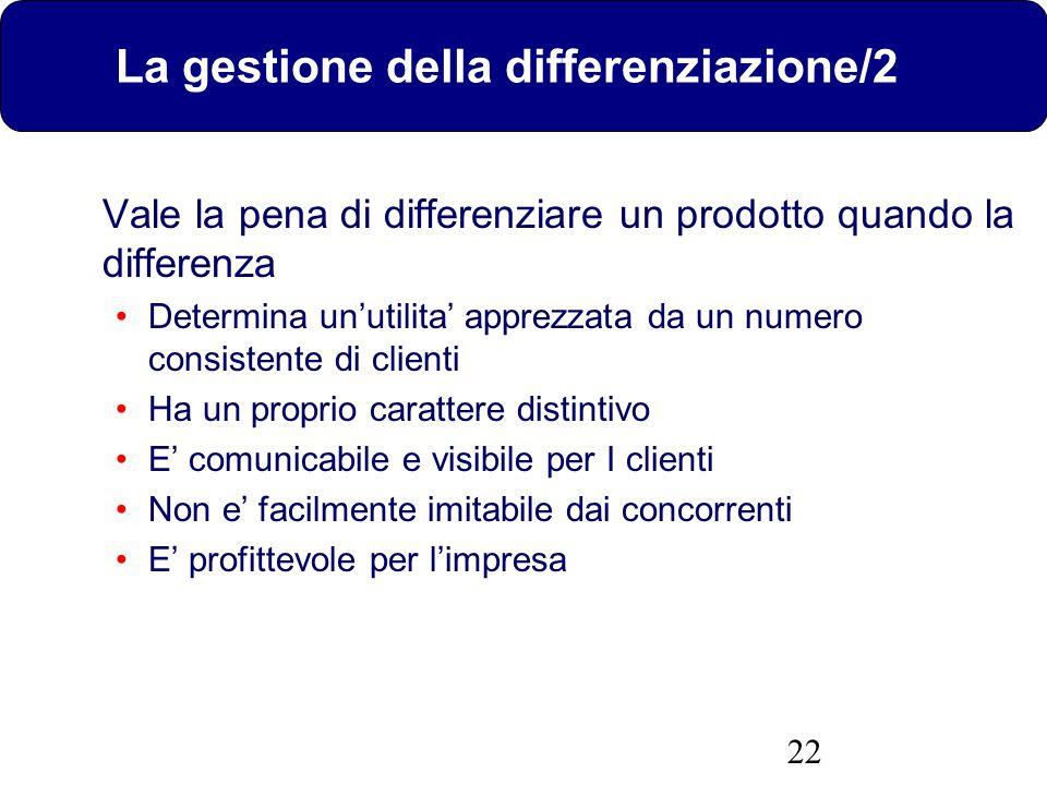 La gestione della differenziazione/2