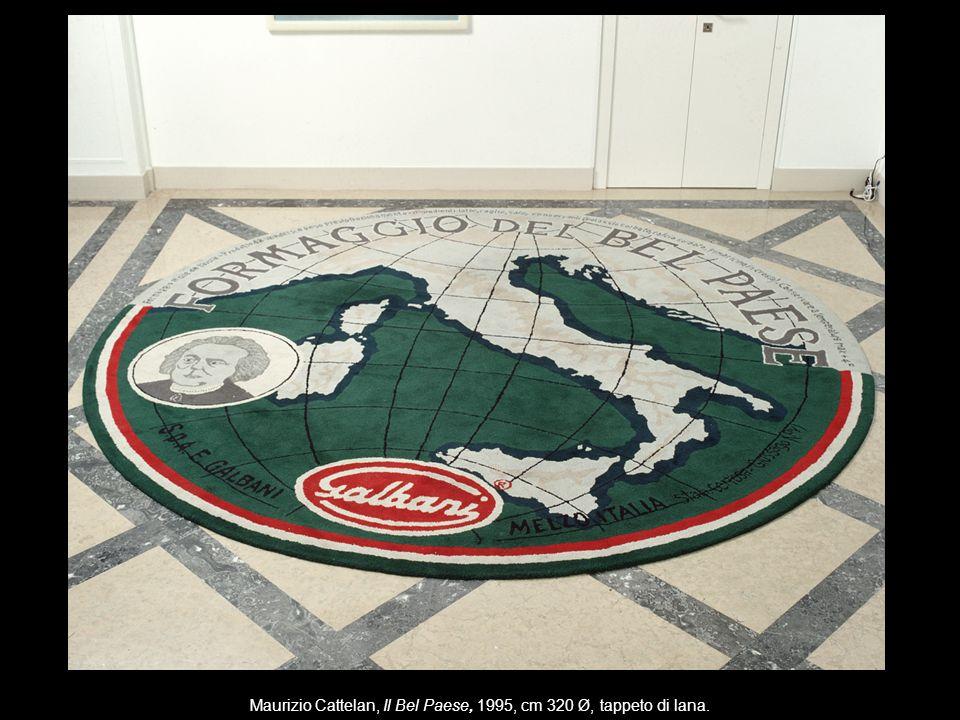 Maurizio Cattelan, Il Bel Paese, 1995, cm 320 Ø, tappeto di lana.