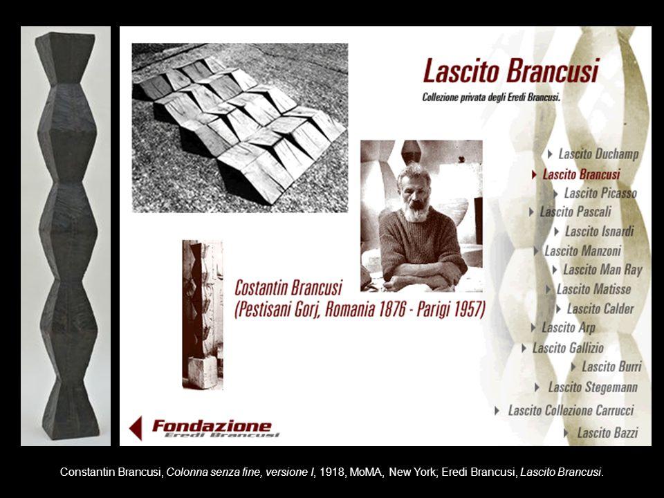 Constantin Brancusi, Colonna senza fine, versione I, 1918, MoMA, New York; Eredi Brancusi, Lascito Brancusi.
