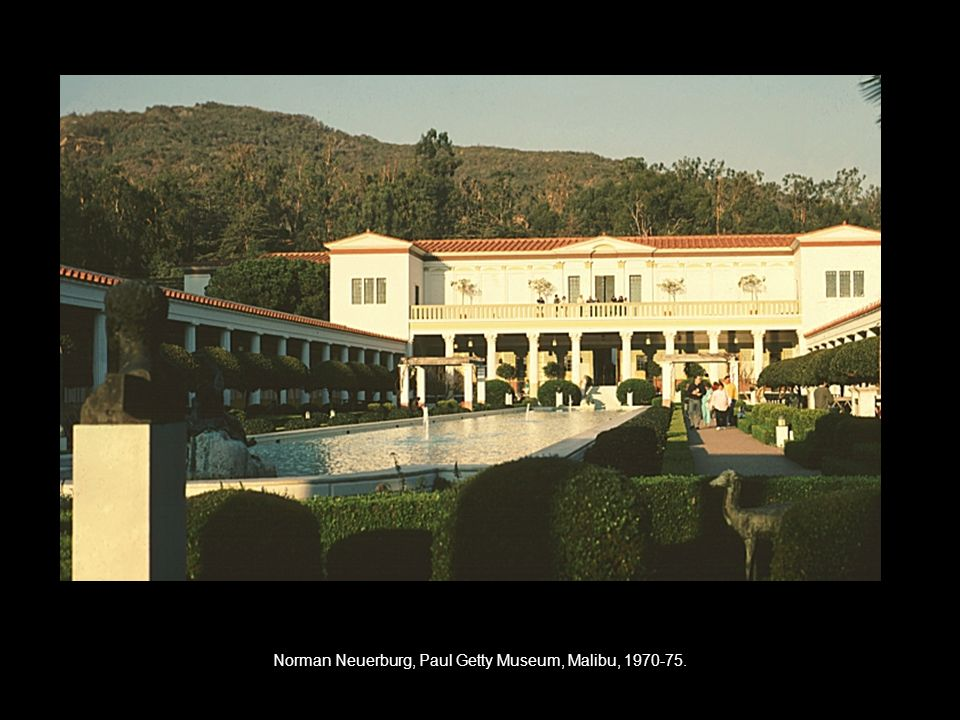 Norman Neuerburg, Paul Getty Museum, Malibu,