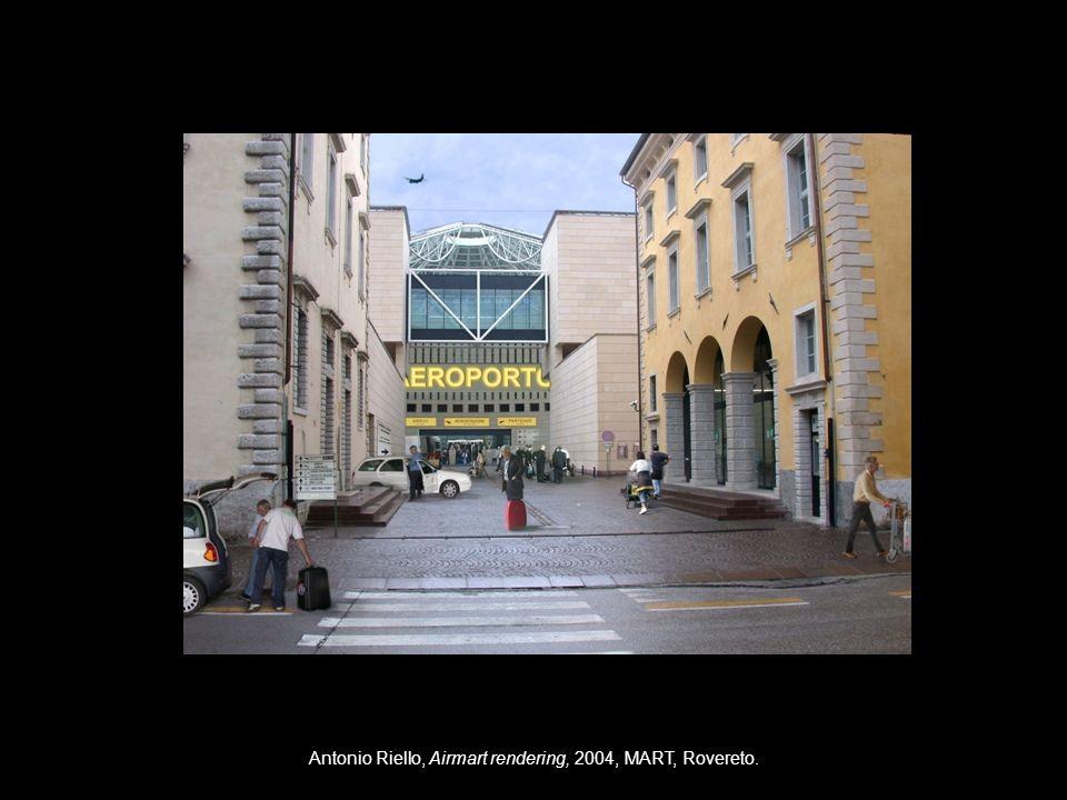 Antonio Riello, Airmart rendering, 2004, MART, Rovereto.