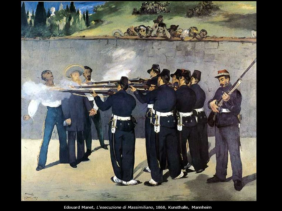 Edouard Manet, L esecuzione di Massimiliano, 1868, Kunsthalle, Mannheim