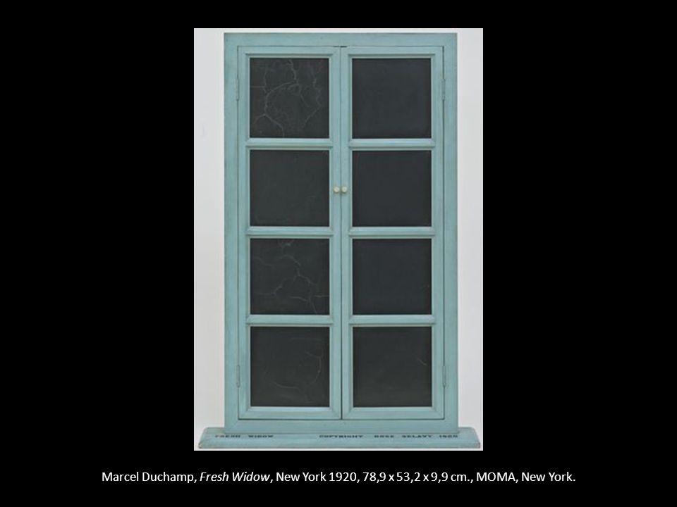 Marcel Duchamp, Fresh Widow, New York 1920, 78,9 x 53,2 x 9,9 cm