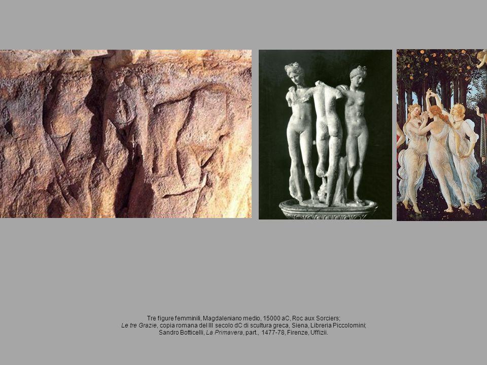 Tre figure femminili, Magdaleniano medio, 15000 aC, Roc aux Sorciers;