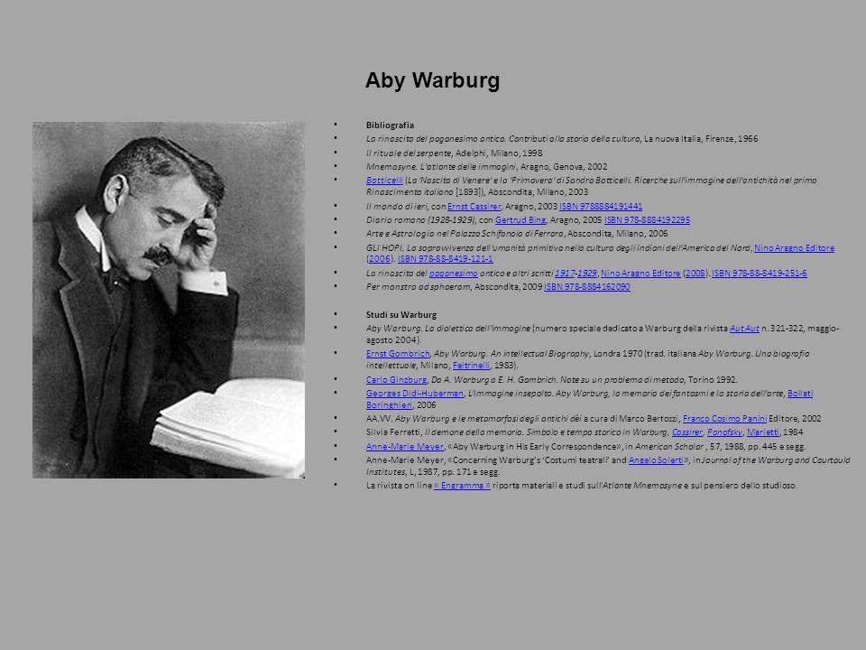 Aby Warburg Bibliografia