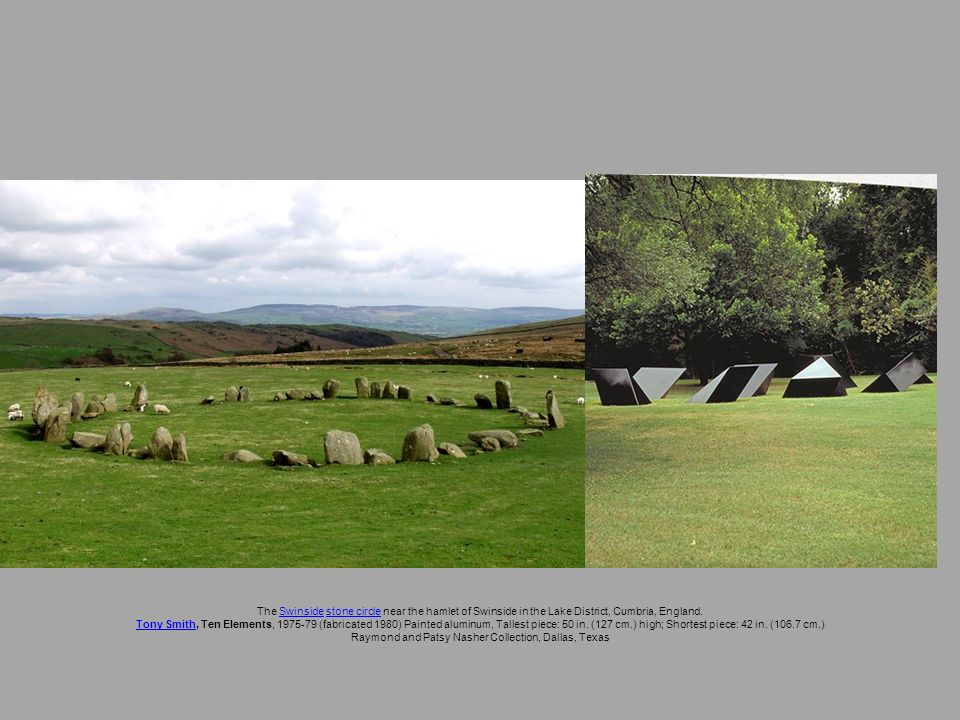 The Swinside stone circle near the hamlet of Swinside in the Lake District, Cumbria, England.