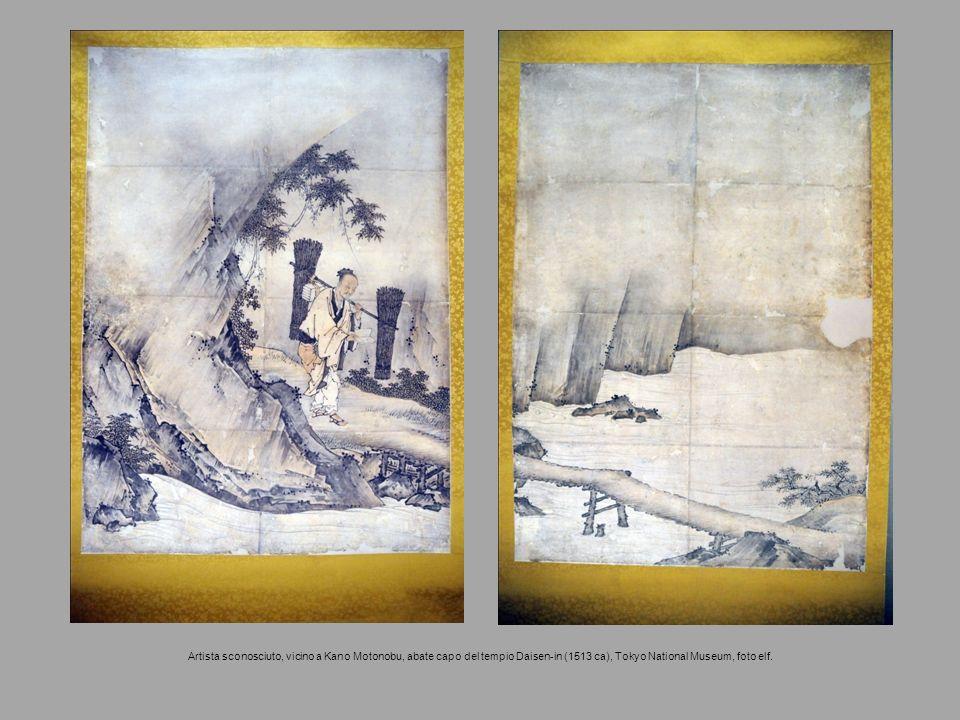 Artista sconosciuto, vicino a Kano Motonobu, abate capo del tempio Daisen-in (1513 ca), Tokyo National Museum, foto elf.