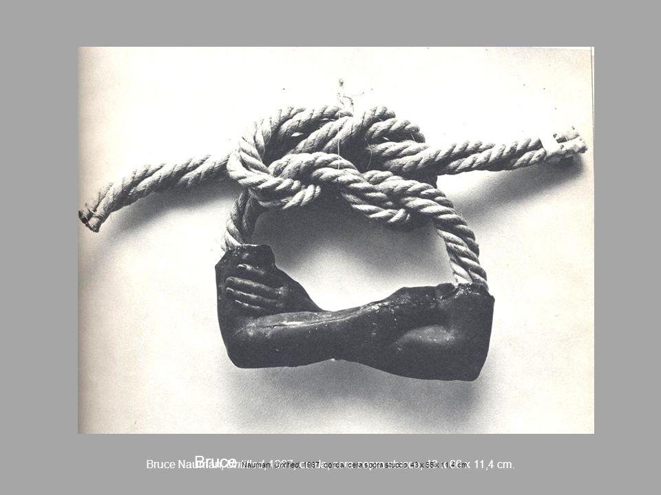 Bruce Nauman, Untitled, 1967, corda, cera sopra stucco, 43 x 66 x 11,4 cm