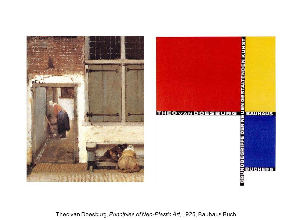 Theo van Doesburg, Principles of Neo-Plastic Art, 1925, Bauhaus Buch.