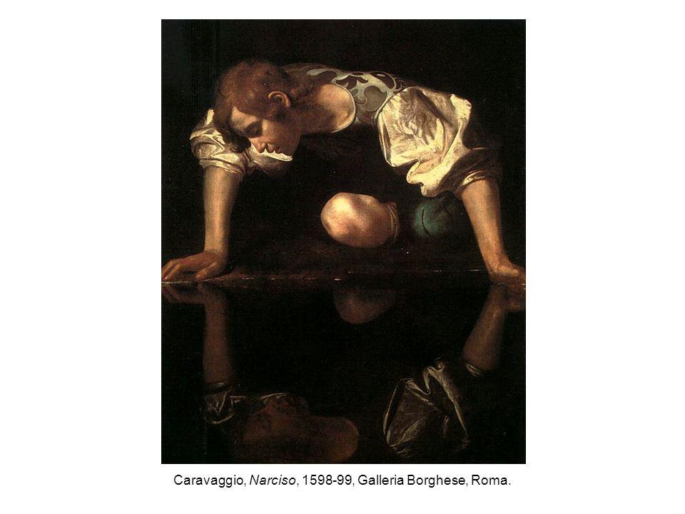 Caravaggio, Narciso, 1598-99, Galleria Borghese, Roma.