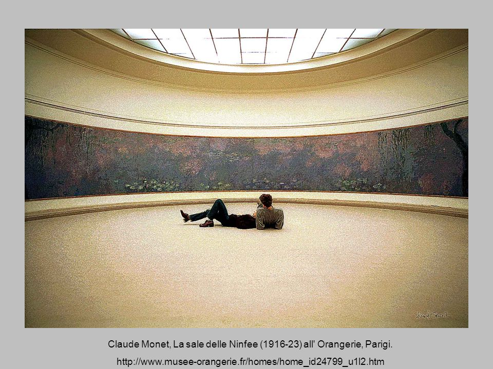Claude Monet, La sale delle Ninfee ( ) all Orangerie, Parigi.