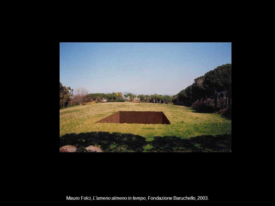 Mauro Folci, L ameno almeno in tempo, Fondazione Baruchello, 2003.