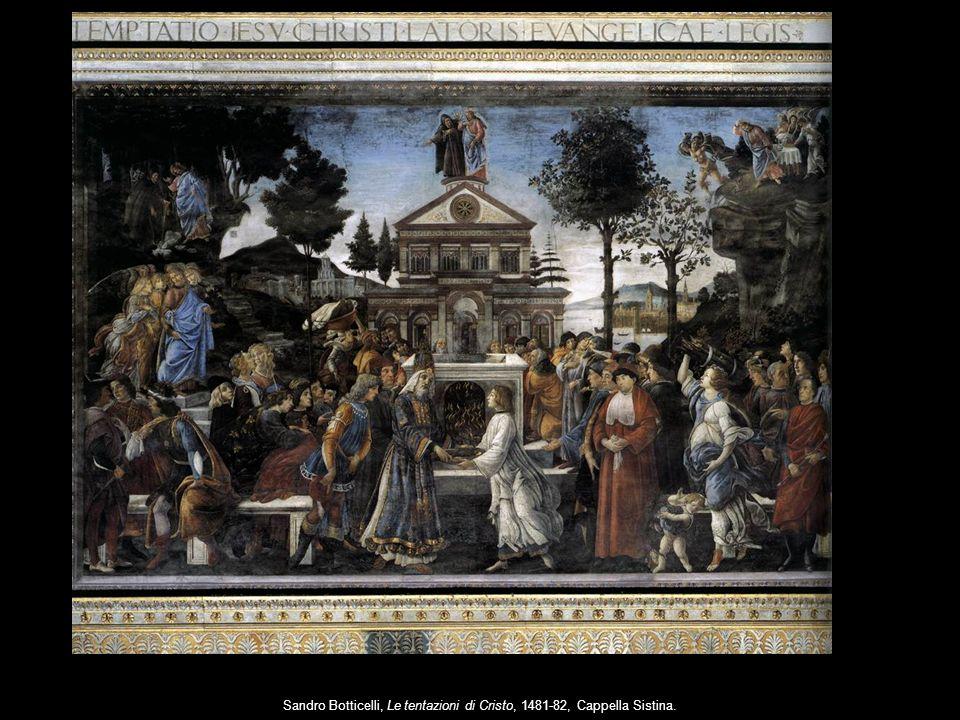 Sandro Botticelli, Le tentazioni di Cristo, 1481-82, Cappella Sistina.