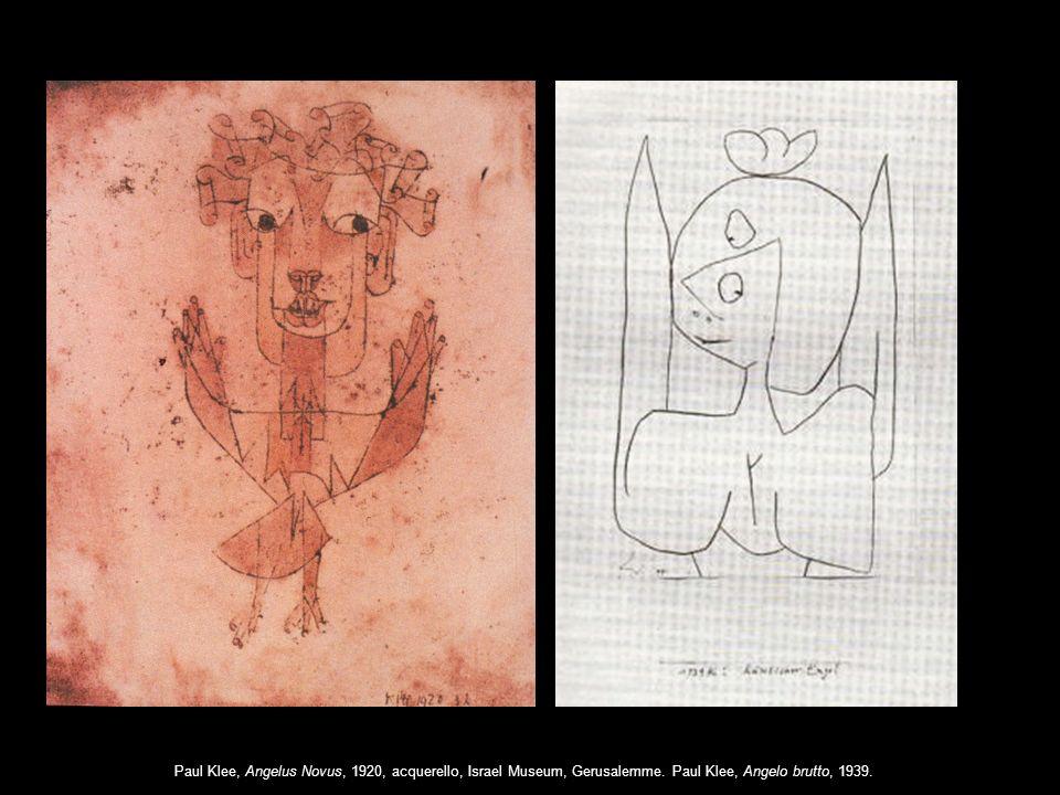 Paul Klee, Angelus Novus, 1920, acquerello, Israel Museum, Gerusalemme