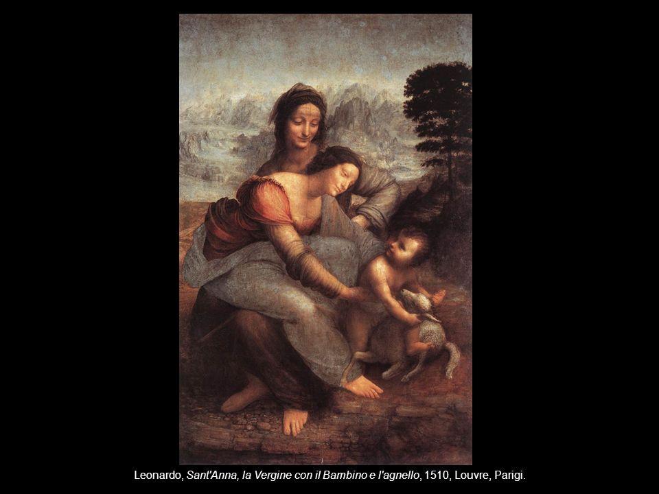 Leonardo, Sant Anna, la Vergine con il Bambino e l agnello, 1510, Louvre, Parigi.