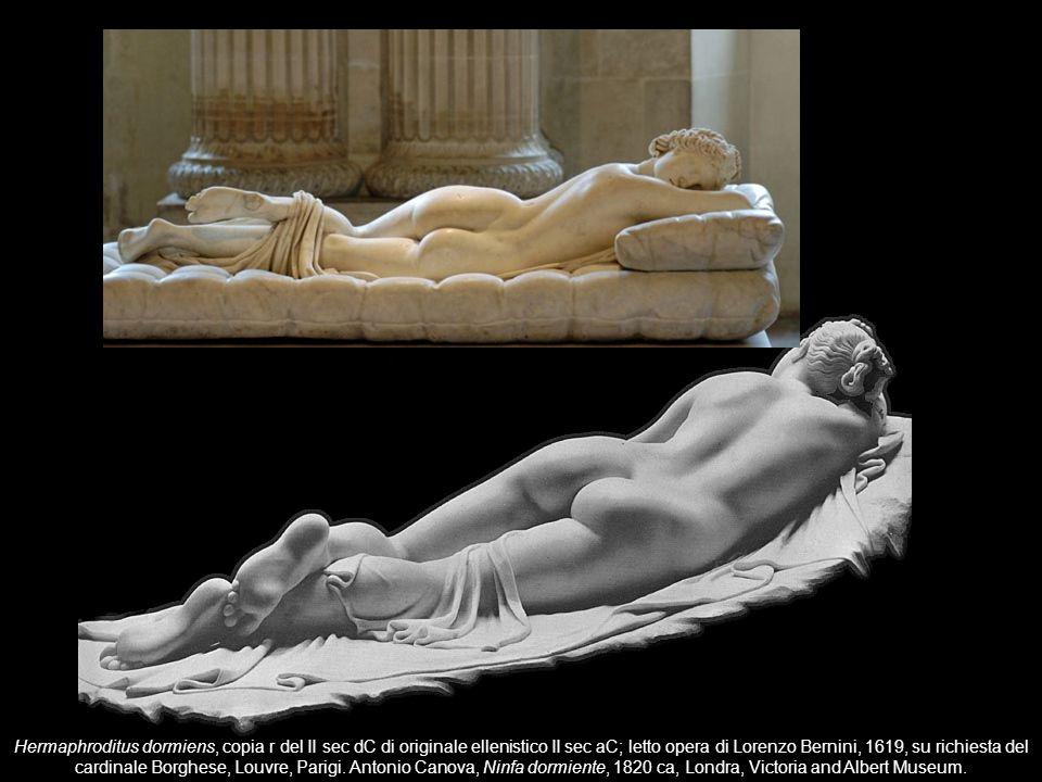 Hermaphroditus dormiens, copia r del II sec dC di originale ellenistico II sec aC; letto opera di Lorenzo Bernini, 1619, su richiesta del cardinale Borghese, Louvre, Parigi.