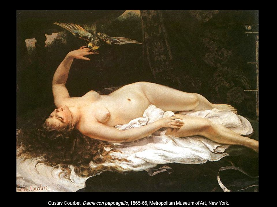 Gustav Courbet, Dama con pappagallo, 1865-66, Metropolitan Museum of Art, New York.