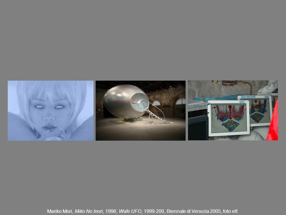 Mariko Mori, Miko No Inori, 1996; Wafe UFO, 1999-200, Biennale di Venezia 2005, foto elf.