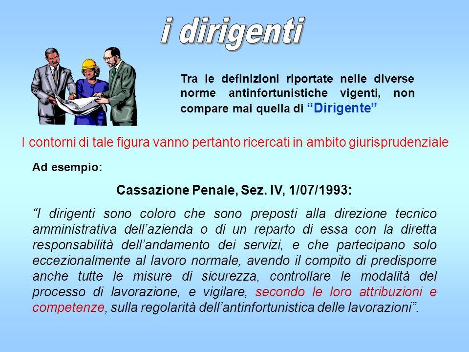 Cassazione Penale, Sez. IV, 1/07/1993: