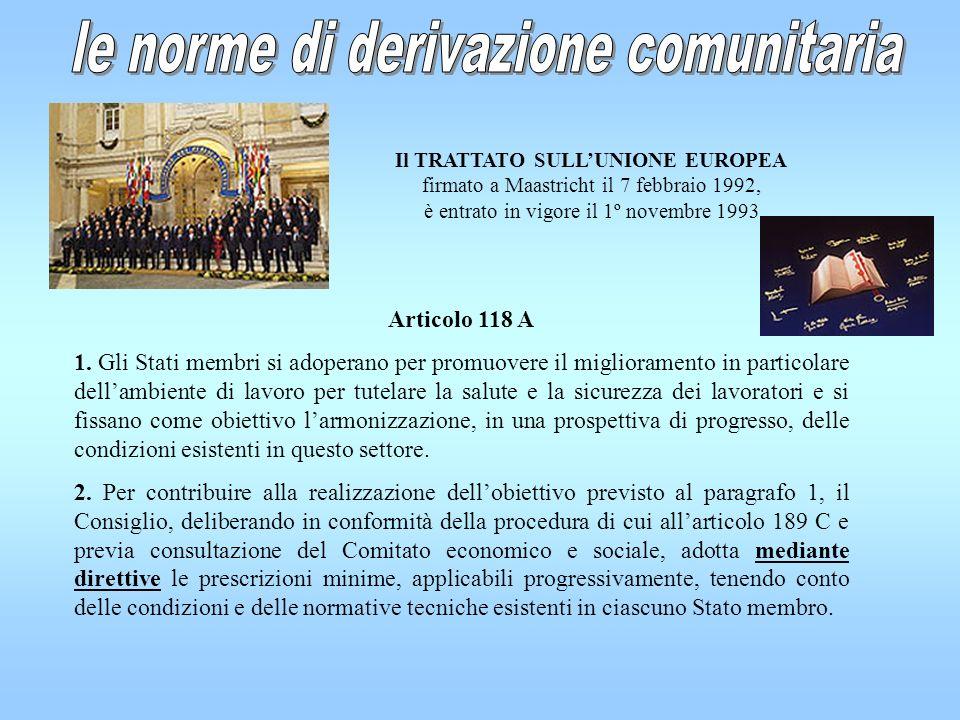 Il TRATTATO SULL'UNIONE EUROPEA