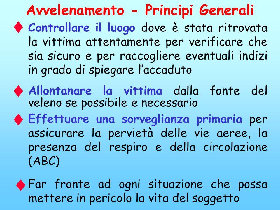 Avvelenamento - Principi Generali