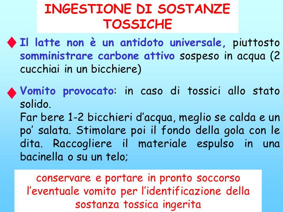 INGESTIONE DI SOSTANZE TOSSICHE