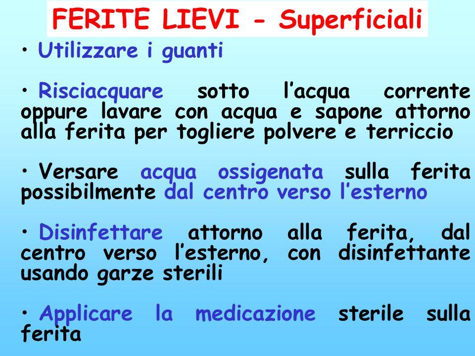 FERITE LIEVI - Superficiali