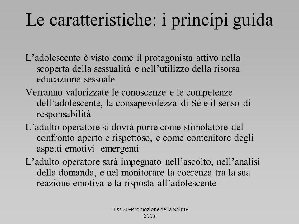 Le caratteristiche: i principi guida