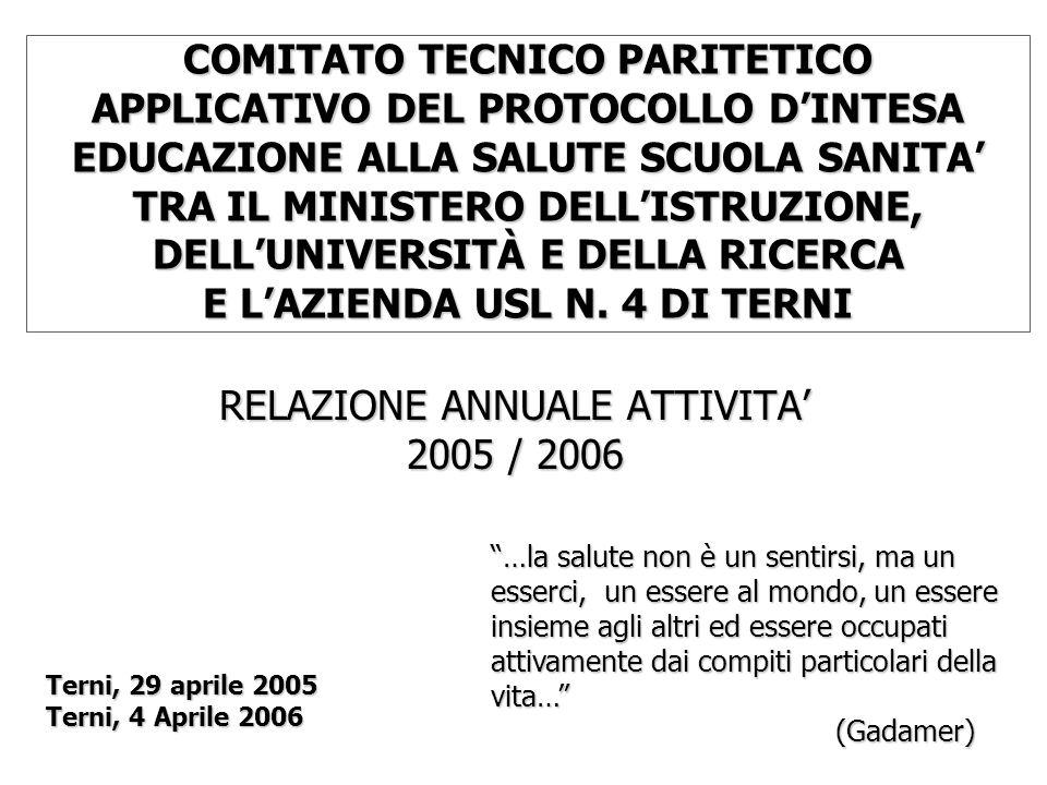RELAZIONE ANNUALE ATTIVITA' 2005 / 2006