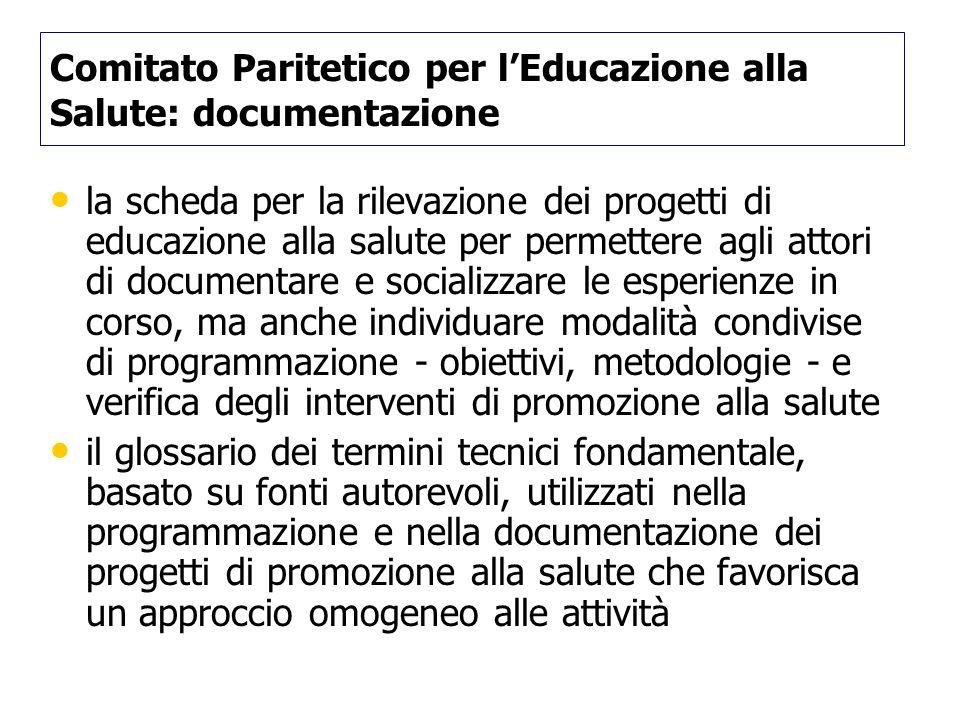 Comitato Paritetico per l'Educazione alla Salute: documentazione