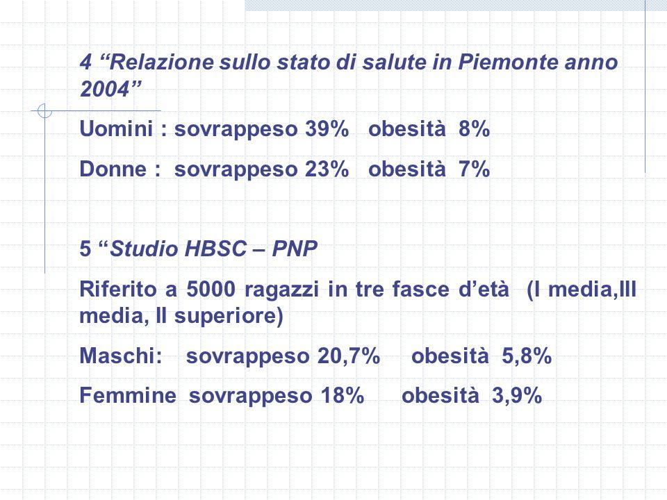 4 Relazione sullo stato di salute in Piemonte anno 2004