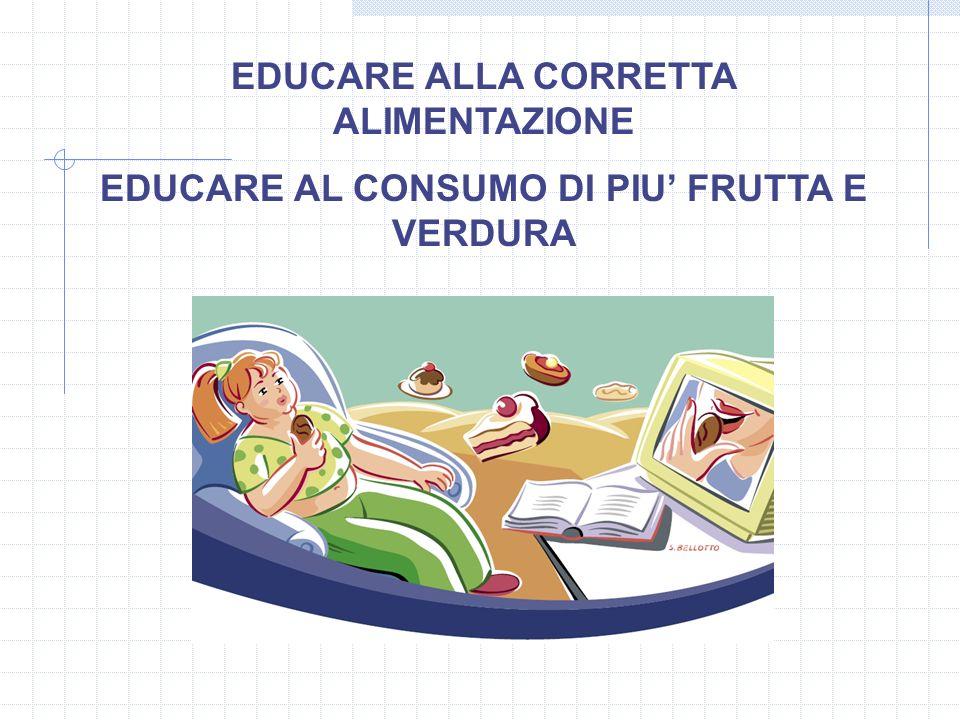 EDUCARE ALLA CORRETTA ALIMENTAZIONE