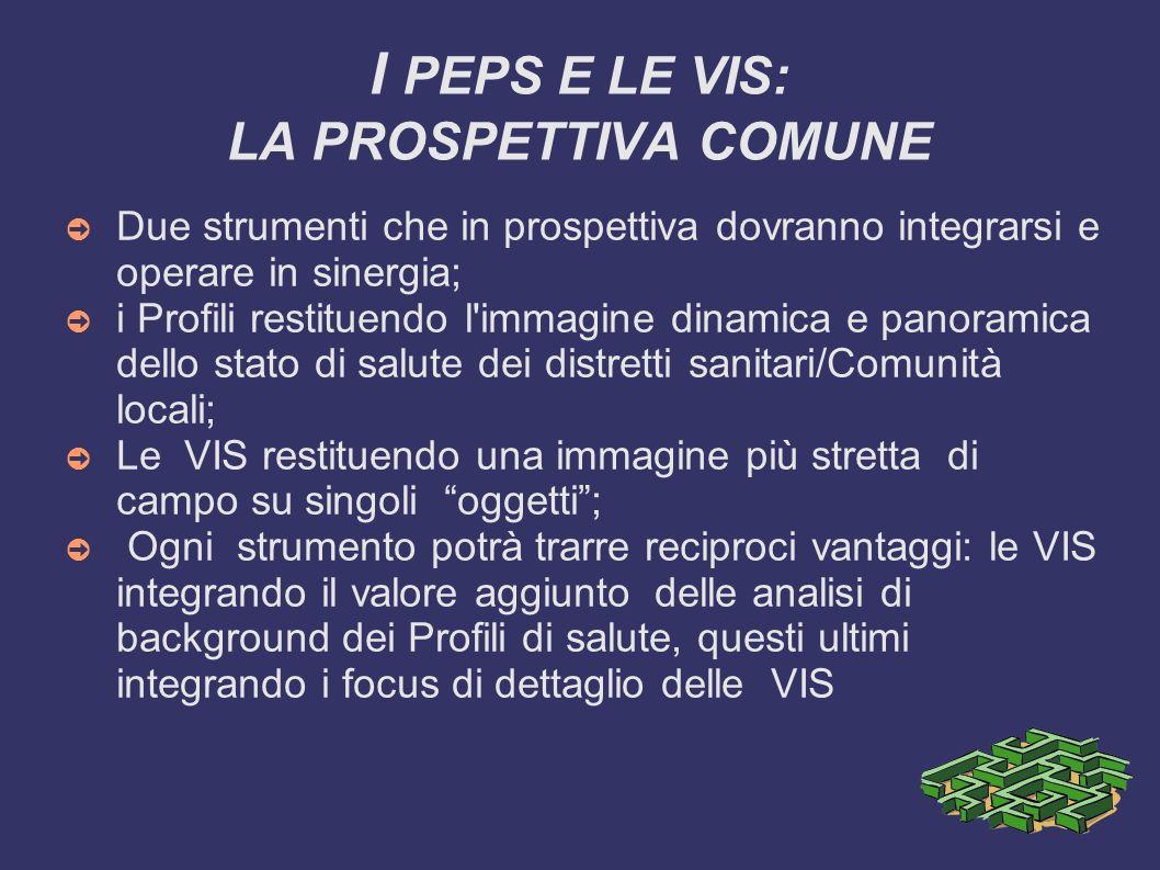 I PEPS E LE VIS: LA PROSPETTIVA COMUNE