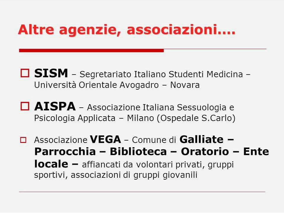 Altre agenzie, associazioni….