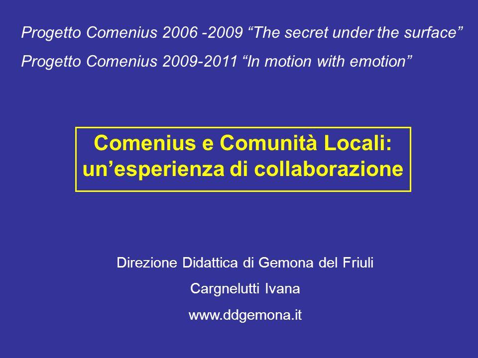 Comenius e Comunità Locali: un'esperienza di collaborazione