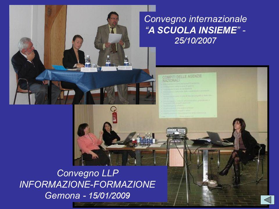 Convegno internazionale A SCUOLA INSIEME - 25/10/2007
