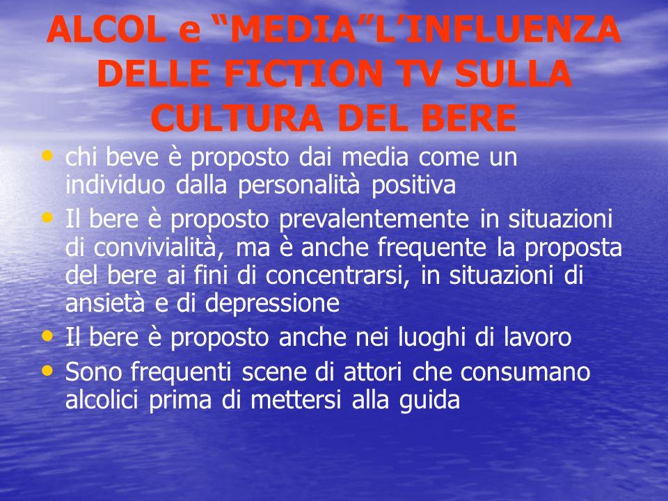 ALCOL e MEDIA L'INFLUENZA DELLE FICTION TV SULLA CULTURA DEL BERE