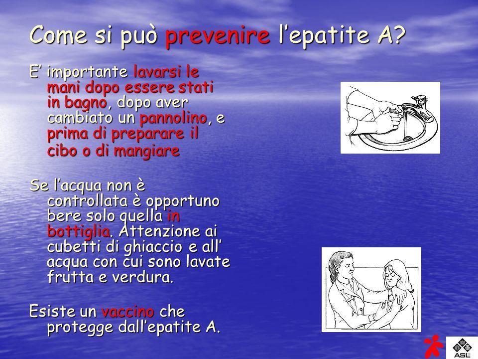Come si può prevenire l'epatite A