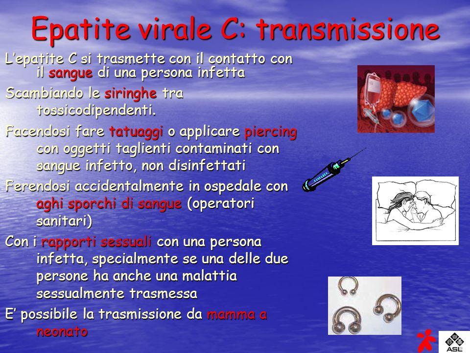 Epatite virale C: transmissione